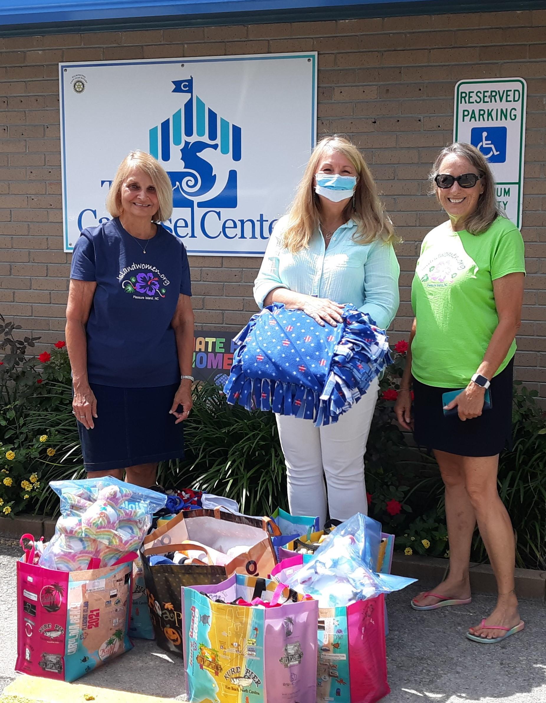 Island Women Donate From Wish list blankets