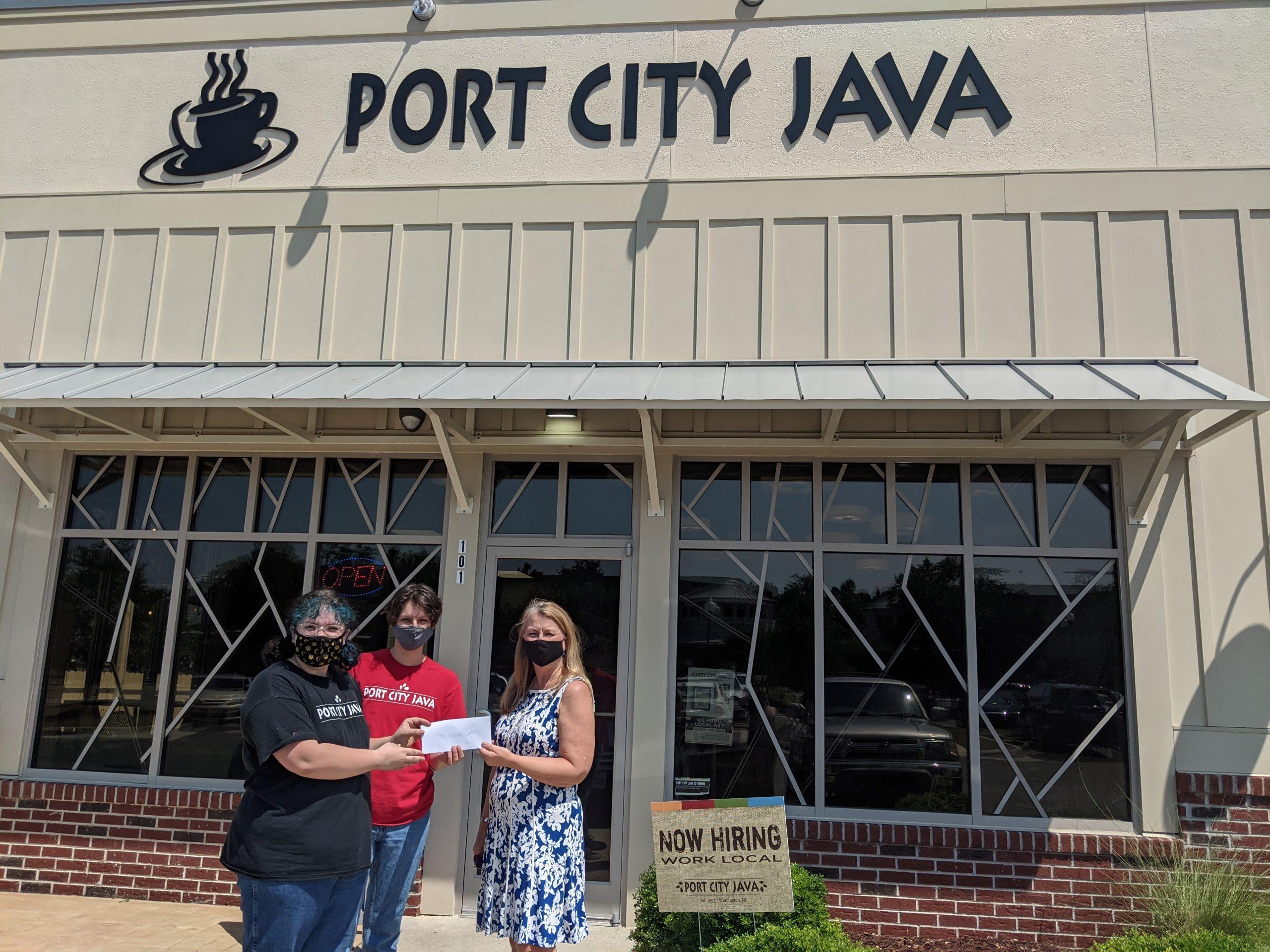 Port City Java Blue Sleeve Promtion Masonboro loop